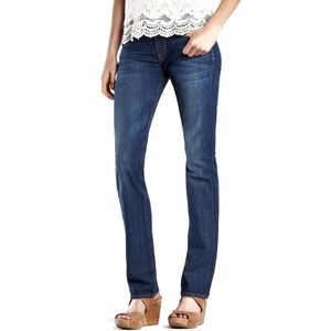 Lucky Brand Distressed Sofia Straight Leg Jean